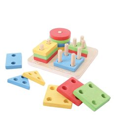 Another great find on #zulily! Bigjigs Toys First Four Shape Sorter Set by Bigjigs Toys #zulilyfinds