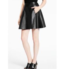 """Kate Spade Leather Circle Skirt NWT New Kate Spade New York Leather Circle Skirt Black Retail Price $598.00. This authentic Kate Spade black leather provides a certain edge to a flirty circle skirt FEATURES: 100% leather FIT: full skirt approx. measures 18.5"""" long. Across waist 13.5"""" (laying flat). DETAILS: imported style # njmu4350 Size 8. Color Black. Please no trading. Please use the offer button to make me a reasonable offer. kate spade Skirts Circle & Skater"""