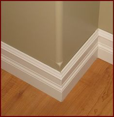 Stacked base molding idea with column door trim for Baseboards doors and more