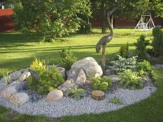 beautiful How To: Landscaping with Rocks  The design of a rock garden and layout of stones is something that each of us must choose according to his taste. So the decision is subjective and ve...