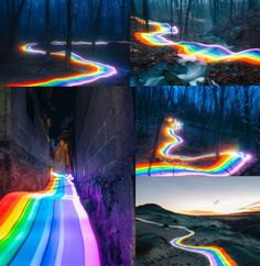 Artist used long exposure photography to capture their partner running with a custom built lighting rig covered in colored gels (credit: Daniel Mercadante) fun funny funny pics Exposure Photography, Light Photography, Fantasy Photography, Photography Ideas, Rainbow Art, Rainbow Colors, Realism Artists, Rainbow Birthday Party, Long Exposure