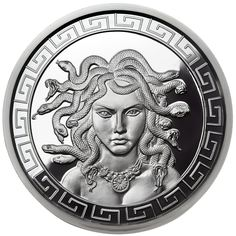 1 oz Proof-like Medusa Silver Rounds from JM Bullion™ Medusa Tattoo, Medusa Drawing, Athena Tattoo, Medusa Art, Medusa Gorgon, Medusa Head, Medusa Greek Mythology, Greece Mythology, Greek Mythology Tattoos