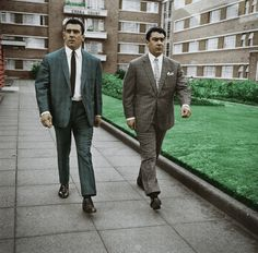 Twin brothers Ronnie and Reggie Kray, known as the Kray Twins, were English gangsters who were the foremost perpetrators of organised crime in East London during the and Real Gangster, Mafia Gangster, East End London, Old London, Lorde, The Krays, Twin Pictures, Hard Men, Twin Brothers