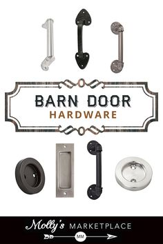 Create your own custom barn doors and choose the hardware that best suits your personality! Barn Door Handles, Barn Door Hardware, Barn Door Track, Barn Doors, Home Projects, Personality, Rustic, Suits, Create