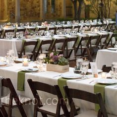 Obsessed with long tables for weddings and I love the simple table decor.