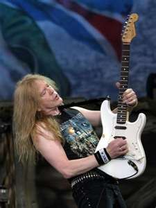 Janick Gers.....has more fun on stage than anyone in the band!