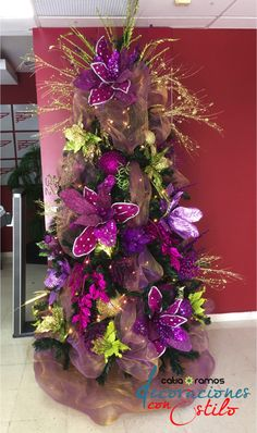 Purple and Green christmas tree