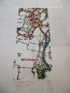 38 Best Textile Art, Hand Embroidered Maps images in 2018