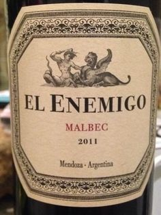 El Enemigo, Malbec from Argentine, Wine O Clock, Drinks, Bottle, Instagram Posts, Rio, Twitter, Design, Paraty