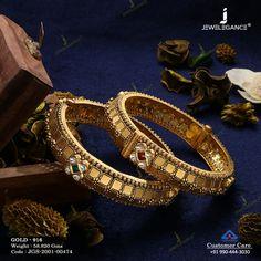 Jadtar Bangles jewellery for Women by jewelegance. ✔ Certified Hallmark Premium Gold Jewellery At Best Price New Gold Jewellery Designs, Gold Mangalsutra Designs, Gold Bangles Design, Gold Jewelry, Gold Kangan, Antique Jewelry, Bracelet, Wedding, Indian Jewelry