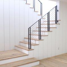 Modern farmhouse stair case