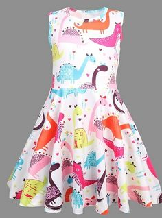 Fashion Wear For Toddlers Product Dinosaur Dress, Girl Dinosaur, Cartoon Dinosaur, Dinosaur Party, Cotton Dresses, Blue Dresses, Girls Dresses Online, Easter Outfit, Casual Summer Dresses