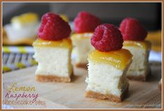 Shugary Sweets: Lemon Raspberry Cheesecake Bites! These look and sound so delicious!