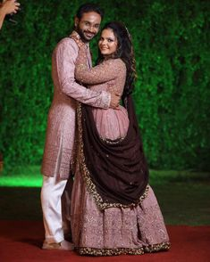 Couple Wedding Dress, Wedding Dresses, Trendy Dresses, Pink Dresses, Indian Wedding Receptions, Bridal Lehenga Collection, Marriage Dress, Indian Wedding Photography Poses, Matching Couple Outfits