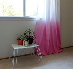 Dip-dyed curtains