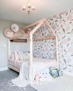 Milk And Peonies Wallpaper Removable Wallpaper Peel and Teen Girl Bedrooms, Little Girl Rooms, 6 Year Old Girl Bedroom, Ideas Habitaciones, Kids Decor, Home Decor, Decor Ideas, Room Wallpaper, Wallpaper For Girls Bedroom