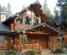 89 extraordinary log home building design models and ten common myths about log homes of 2 Log Cabin Living, Log Cabin Homes, Log Cabins, Cabins In The Woods, House In The Woods, Home Building Design, Building A House, Log Home Decorating, Cabins And Cottages