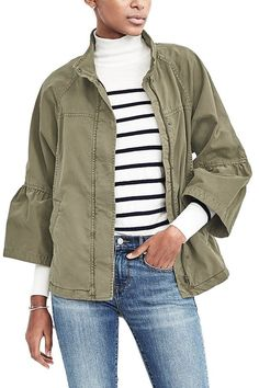 9 New Twists on Your Favorite Military Jacket via @PureWow