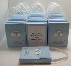 paper craft communion cards | First Communion Favors. Could do this for so many other things.