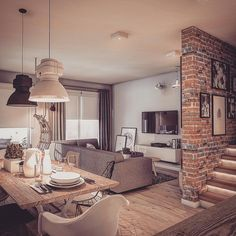 Home Decoration With Indoor Plants Key: 2140604342 Flur Design, Küchen Design, Design Case, Home Design Decor, Modern House Design, Interior Design Living Room, Home Decor, Home Living Room, Living Room Decor