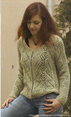Пуловер ажурный. Обсуждение на LiveInternet - Российский Сервис Онлайн-Дневников