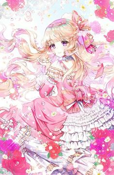 Girl, Blonde Hair, Pink Eyes - Everything About Anime Manga Pokémon, Manga Anime Girl, Girls Anime, Anime Girl Drawings, Anime Artwork, Pretty Anime Girl, Cool Anime Girl, Beautiful Anime Girl, Anime Love