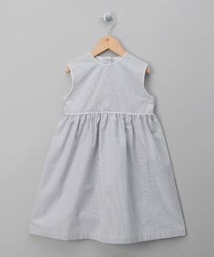Take a look at this Blue Stripy Dress - Infant, Toddler & Girls by Blura on #zulily today!