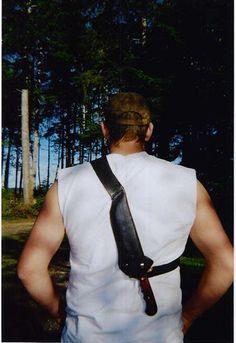 Crocodile Dundee style knife sheath Mountain man leather works