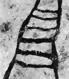 Armando, Die Leiter White Art, Black And White, Installation Art, Painting & Drawing, Modern Art, Drawings, Ladders, Stairs, Paintings