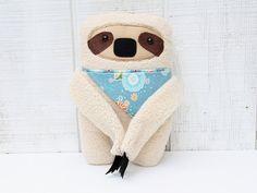 Handmade Sloth Plushie with Bandana Baby