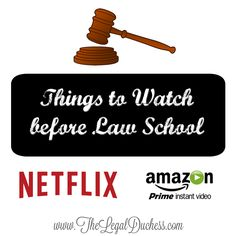 Legal Tv Shows and Movies to watch before Law School.