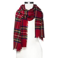 Multicolored Oversized Plaid Scarf - Red - So great for those cold winter days ! Its so warm and cozy ugh i love it!(: And the fact that its oversized is just a bonus ! Haha pare this with a oversized grey sweater dress with some combat boots and knee highs and youre set!(: