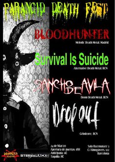 Long Live The Loud 666: PARANOID DEATH FEST WITH: BLOODHUNTER,SURVIVAL IS ...