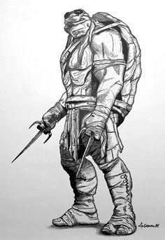 raphael_teenage_mutant_ninja_turtles_18x24_by_lizzymckee12345-d9txwz4.jpg (1024×1489)
