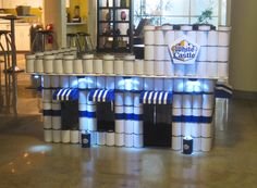 """""""Crave-a-Lot,"""" Melamed Riley's tribute to @White Castle using canned goods."""