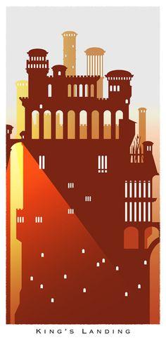 King's Landing  Game of Thrones Prints by BreakingFrameDesign #GoT #asoiaf