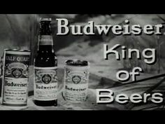 """Budweiser Beer Commercial """"Where There's Life, There's Bud"""" circa 1956 Anheuser Busch: http://youtu.be/NgicCqbIvCU #Bud #beer #commercial"""