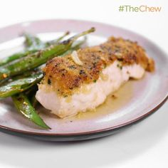Michael Symon's Mustard Crusted Halibut in Butter Sauce #TheChew