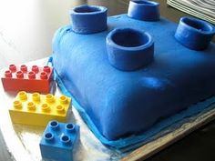 Treats - Duplo Party Cake!  - I may try to make individual cakes. #LegoDuploParty