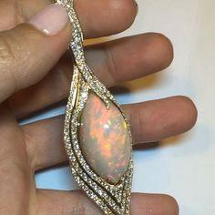 Kat Florence Opal and diamond pendant #opalsaustralia