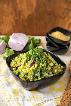 Summer Corn Salad with Basil Pesto Aioli | Vegan Yack Attack