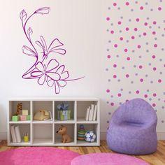 Naklejka - Kwiaty | Decorative sticker - Flowers | 27,99 PLN #photograph #wallpaper #flowers #pattern #home_decor #interior_decor