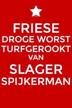 Droge worst van Slager Spijkerman uit Akkrum.
