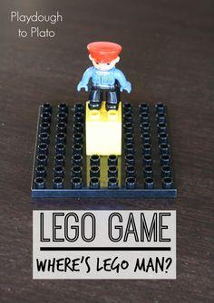 Fun, low prep LEGO Game- Where's LEGO Man? {Playdough to Plato}
