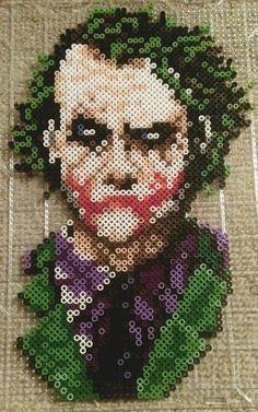 Perler bead Joker >^ω^< I like Jared Leto, but Heath Ledger will always be the best.