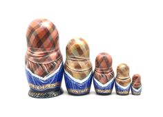 """Russian nesting doll (stacking doll) or Matryoshka doll is a set of dolls decreasing in sizes placed one inside another. The word """"mah-tr-o-sh-kah"""" is related to the old Russian wordmat, meaning """"mother"""". 