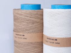 Large Bobbin: Medium Paper Twine White by PaperPhine | PaperPhine