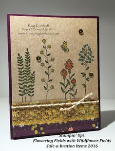 Stamping to Share: Stampin' Up! Flowering Fields Sale-a-bration 2016 with How To Video