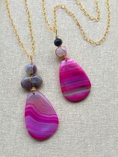 Gemstone necklaces, agate pendant necklaces, gemstone pendant necklace
