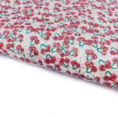 Cherry Picking Chunky Glitter Fabric Sheets Cherry Picking, Glitter Fabric, Day Up, All Design, Craft Supplies, Bows, Colours, A4, Projects